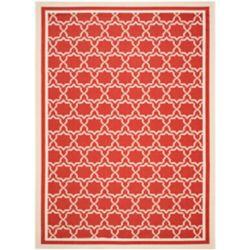 Safavieh Courtyard Jaron Red / Bone 8 ft. x 11 ft. Indoor/Outdoor Area Rug