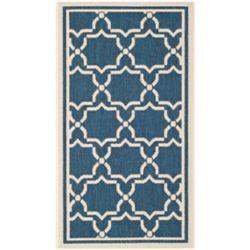 Safavieh Courtyard Blue 2 ft. 7-inch x 5 ft. Indoor/Outdoor Rectangular Area Rug - CY6916-268-3