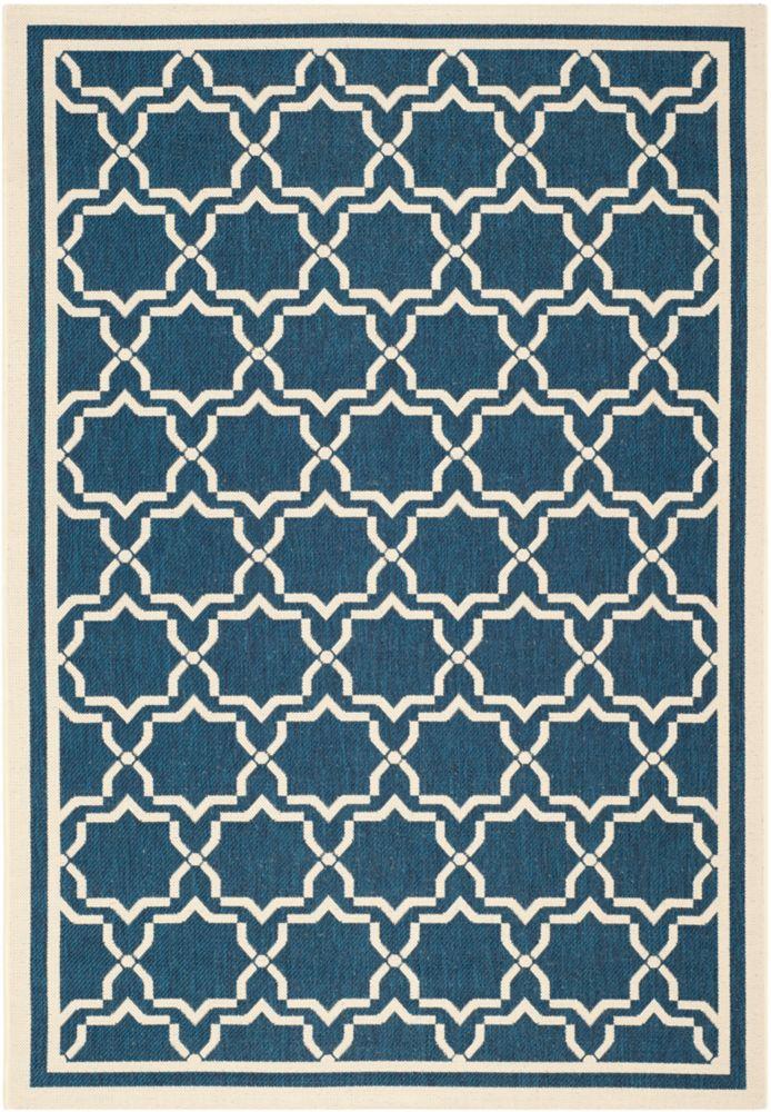 Safavieh Courtyard Blue 5 ft. 3-inch x 7 ft. 7-inch Indoor/Outdoor Rectangular Area Rug - CY6916-268-5