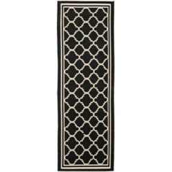 Safavieh Courtyard Sherry Black / Beige 2 ft. 3 inch x 14 ft. Indoor/Outdoor Runner