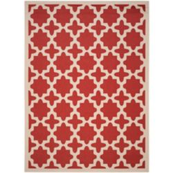Safavieh Courtyard Nick Red / Bone 6 ft. 7 inch x 9 ft. 6 inch Indoor/Outdoor Area Rug