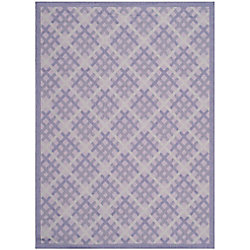 Safavieh Courtyard Patton Lilac / Dark Lilac 5 ft. 3 inch x 7 ft. 7 inch Indoor/Outdoor Area Rug