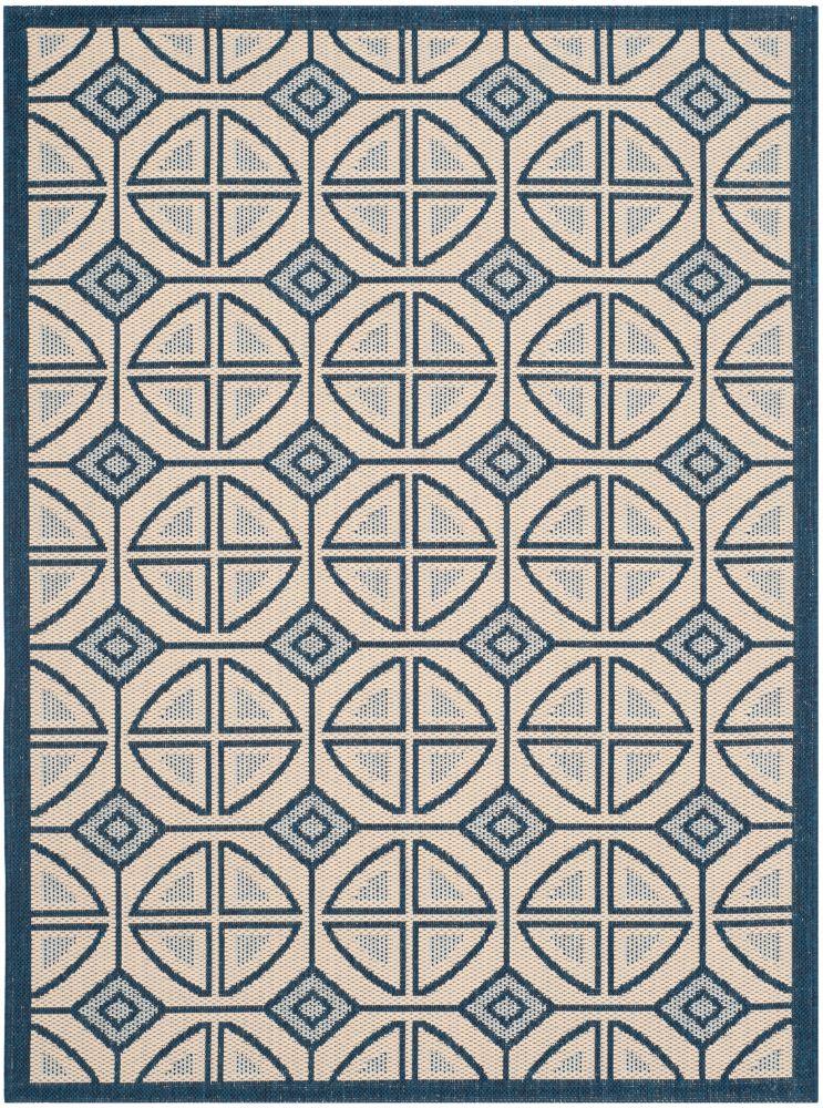 Safavieh Courtyard Blue 2 ft. 7-inch x 5 ft. Indoor/Outdoor Rectangular Area Rug - CY7017-258-3