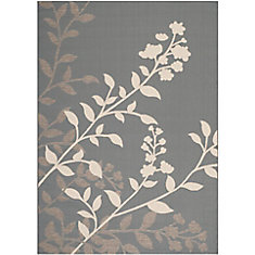 Courtyard Rory Anthracite / Beige 5 ft. 3 inch x 7 ft. 7 inch Indoor/Outdoor Area Rug