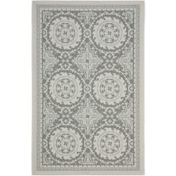 Safavieh Courtyard Ed Light Grey / Anthracite 5 ft. 3 inch x 7 ft. 6 inch Indoor/Outdoor Area Rug
