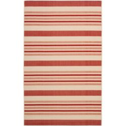 Safavieh Courtyard Gordan Beige / Red 5 ft. 3 inch x 7 ft. 7 inch Indoor/Outdoor Area Rug