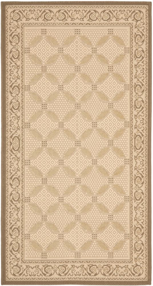 Safavieh Courtyard Harlow Beige / Dark Beige 4 ft. x 5 ft. 7 inch Indoor/Outdoor Area Rug