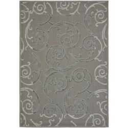 Safavieh Courtyard Glenn Anthracite / Light Grey 5 ft. 3 inch x 7 ft. 7 inch Indoor/Outdoor Area Rug