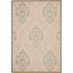 Safavieh Courtyard Gloria Dark Beige / Beige 4 ft. x 5 ft. 7 inch Indoor/Outdoor Area Rug