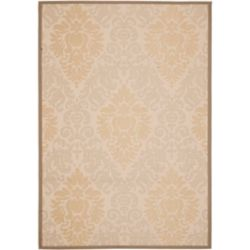 Safavieh Courtyard Gloria Beige / Dark Beige 5 ft. 3 inch x 7 ft. 7 inch Indoor/Outdoor Area Rug