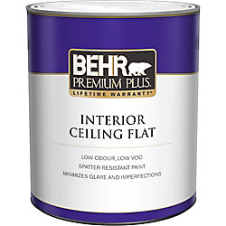Behr Premium Plus Peinture Intérieure pour Plafonds Fini Mat - 946 mL