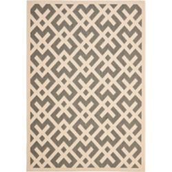 Safavieh Courtyard Leia Grey / Bone 5 ft. 3 inch x 7 ft. 7 inch Indoor/Outdoor Area Rug