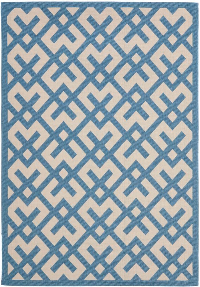 Safavieh Courtyard Blue 5 ft. 3-inch x 7 ft. 7-inch Indoor/Outdoor Rectangular Area Rug - CY6915-243-5