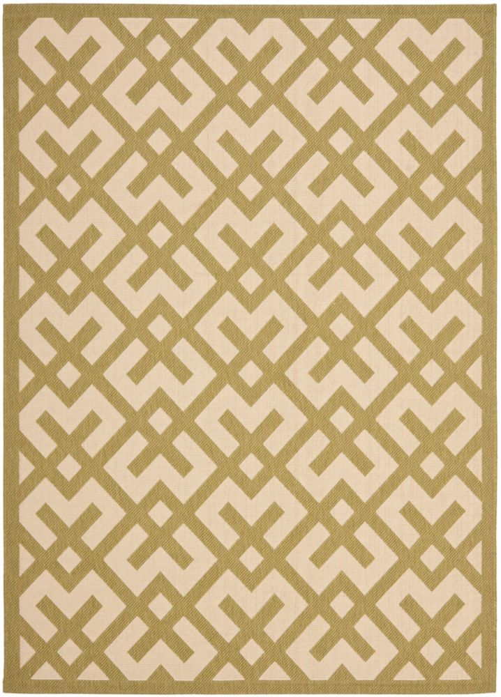 Safavieh Courtyard Leia Beige / Green 5 ft. 3 inch x 7 ft. 7 inch Indoor/Outdoor Area Rug
