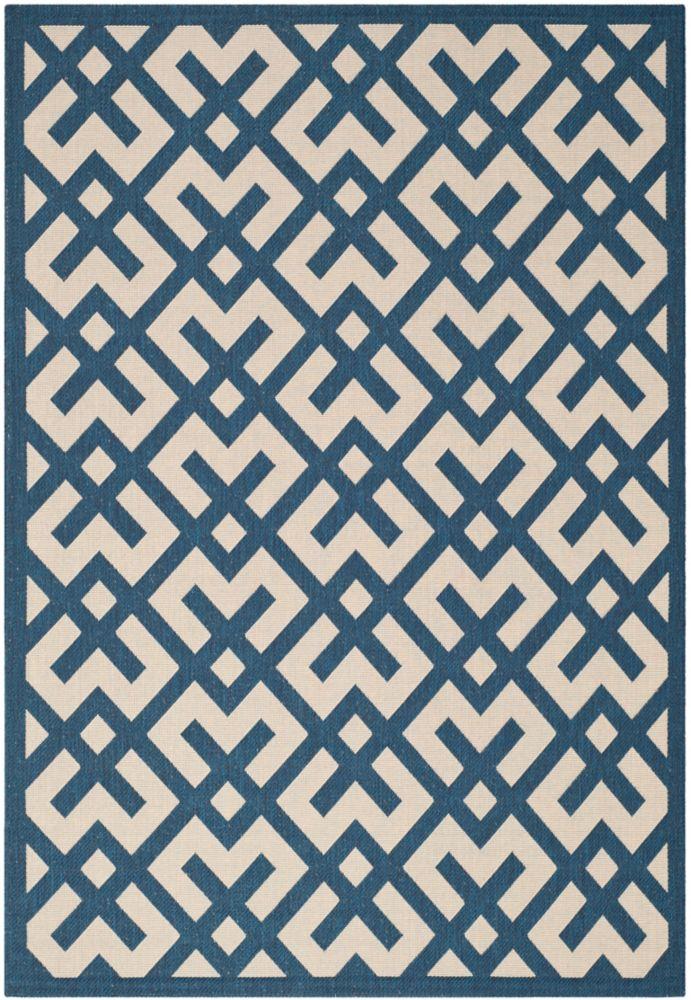 Safavieh Courtyard Blue 5 ft. 3-inch x 7 ft. 7-inch Indoor/Outdoor Rectangular Area Rug - CY6915-268-5
