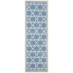 Safavieh Courtyard Jaron Blue / Beige 2 ft. 3 inch x 8 ft. Indoor/Outdoor Runner