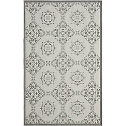 Safavieh Courtyard Lucius Anthracite / Light Grey 6 ft. 7 inch x 9 ft. 6 inch Indoor/Outdoor Area Rug