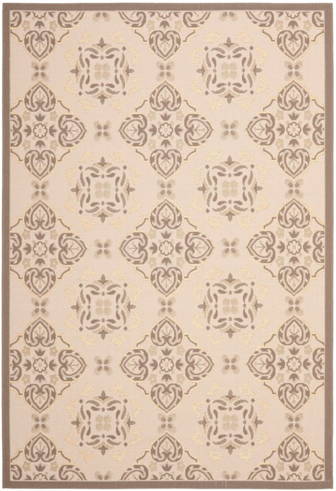 Safavieh Courtyard Lucius Beige / Dark Beige 5 ft. 3 inch x 7 ft. 7 inch Indoor/Outdoor Area Rug