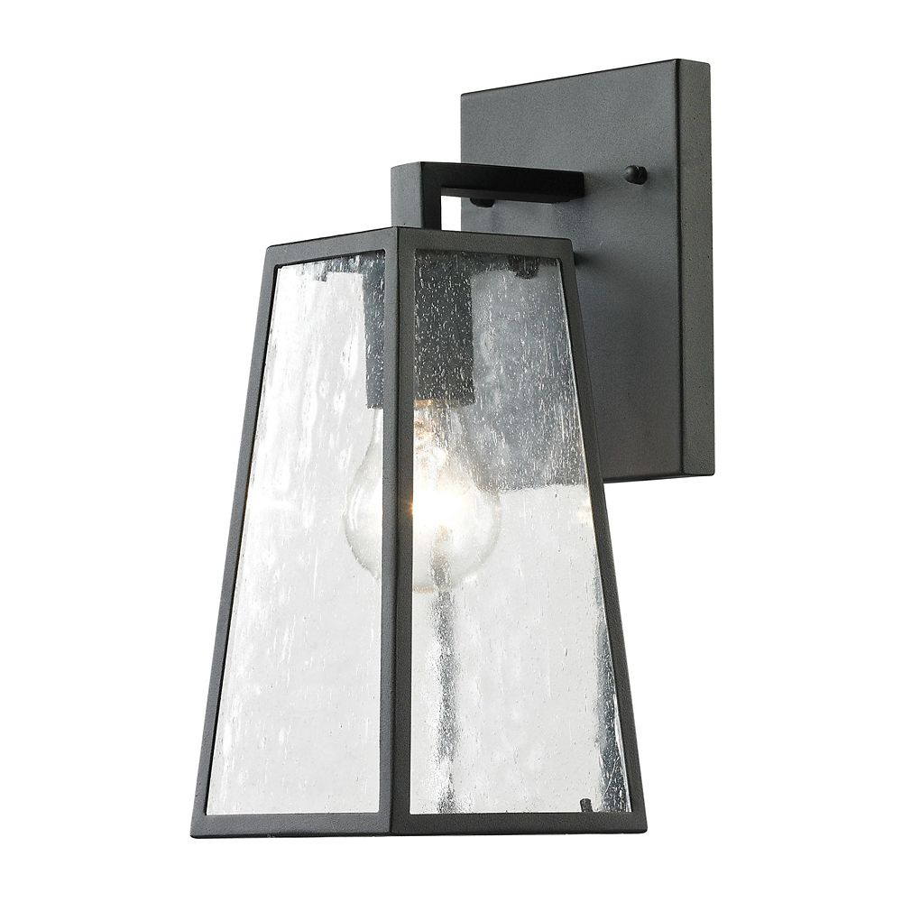 Outdoor Sconce Lighting Outdoor wall lights sconces lanterns more the home depot canada gloucester collection 1 light textured matte black outdoor sconce workwithnaturefo