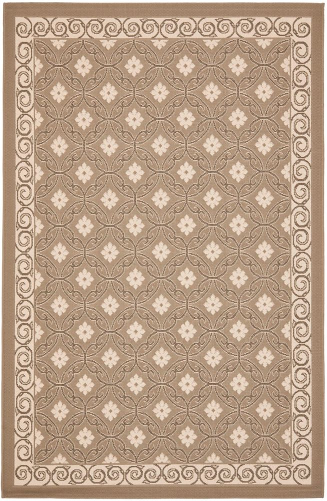 Safavieh Courtyard Darion Dark Beige / Beige 5 ft. 3 inch x 7 ft. 7 inch Indoor/Outdoor Area Rug
