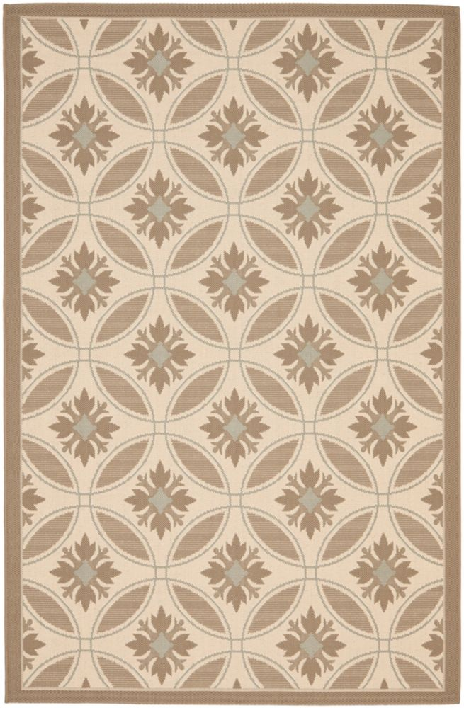 Safavieh Courtyard Lulu Beige / Dark Beige 5 ft. 3 inch x 7 ft. 7 inch Indoor/Outdoor Area Rug