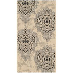 Safavieh Courtyard Anthony Cream / Black 2 ft. 7 inch x 5 ft. Indoor/Outdoor Area Rug
