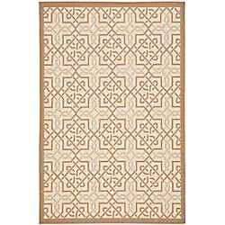 Safavieh Courtyard Marie Dark Beige / Beige 5 ft. 3 inch x 7 ft. 7 inch Indoor/Outdoor Area Rug