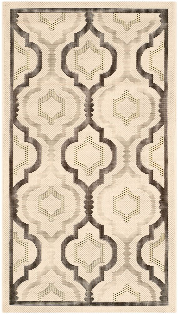 Safavieh Courtyard Li Beige / Black 2 ft. 7 inch x 5 ft. Indoor/Outdoor Area Rug