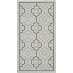 Safavieh Courtyard Li Light Grey / Anthracite 4 ft. x 5 ft. 7 inch Indoor/Outdoor Area Rug