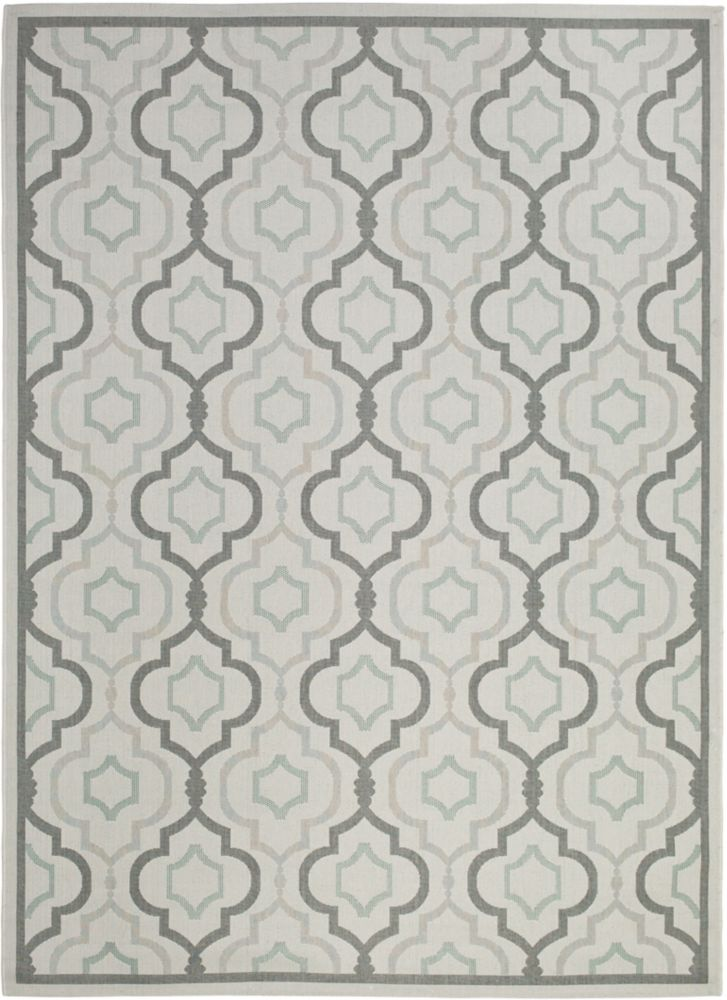 Safavieh Courtyard Li Light Grey / Anthracite 6 ft. 7 inch x 9 ft. 6 inch Indoor/Outdoor Area Rug