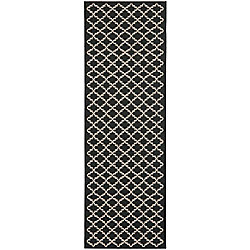 Safavieh Courtyard Jay Black / Beige 2 ft. 3 inch x 20 ft. Indoor/Outdoor Runner