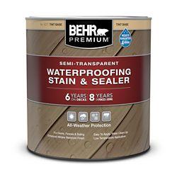 Behr Premium Teinture Imperméabilisante Semi-Transparente pour Terrasses, Clôtures & Bardages - Base Á Teinter, 946 mL