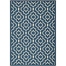 Safavieh Courtyard Blue 5 ft. 3-inch x 7 ft. 7-inch Indoor/Outdoor Rectangular Area Rug - CY6926-268-5