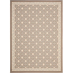 Safavieh Courtyard Darion Beige / Dark Beige 6 ft. 7 inch x 9 ft. 6 inch Indoor/Outdoor Area Rug