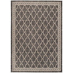 Safavieh Courtyard Nita Black / Beige 4 ft. x 5 ft. 7 inch Indoor/Outdoor Area Rug