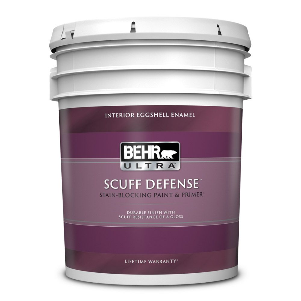 Behr Premium Plus Ultra Interior Paint & Primer in One, Eggshell Enamel - Deep Base, 18.9 L