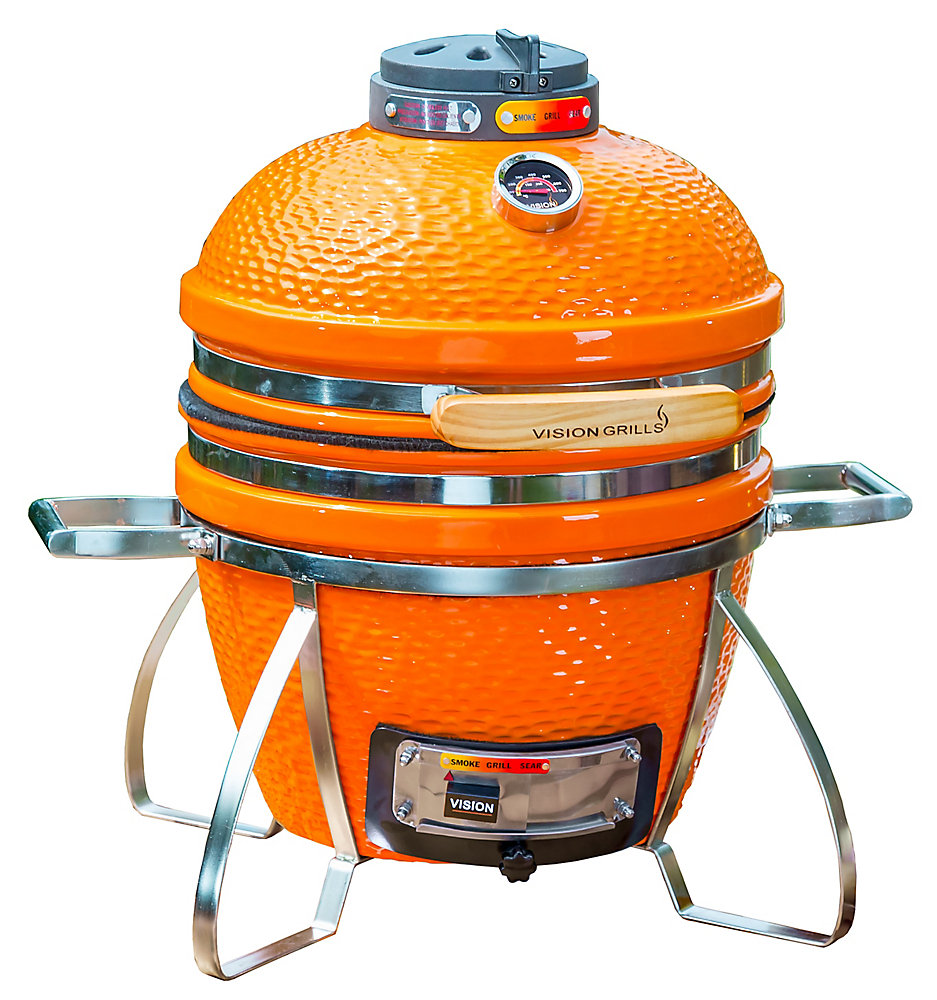 Cadet Kamado Charcoal BBQ in Orange