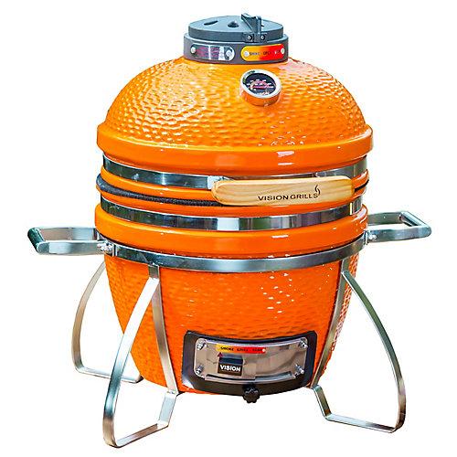 Cadet Kamado Charcoal BBQ in Orange