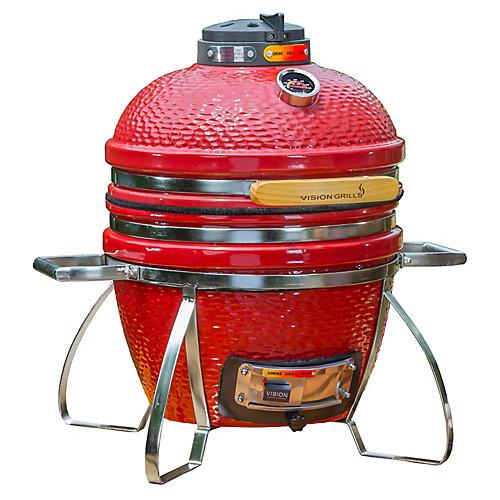 Cadet Kamado Charcoal BBQ in Crimson Red