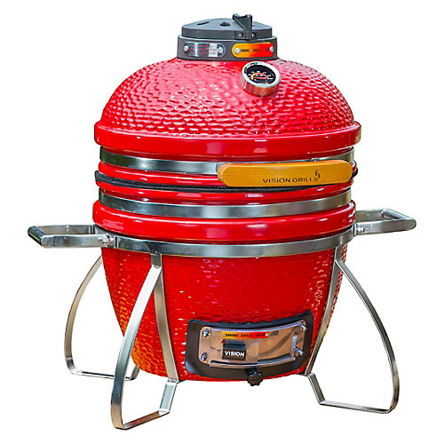 Cadet Kamado Charcoal BBQ in Red