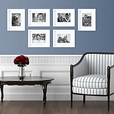Gallery Pack of 6- 8x10 Inch  Matted To 5x7 Inch   Frame - White