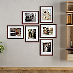 Gallery Pack of 6- 11X14 Inch  Matted To 8X10 Inch  Frame - Espresso