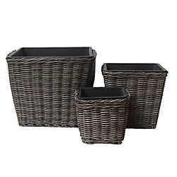 Grapevine Planters Neutral Grey (3-Pack)