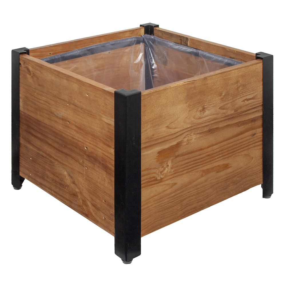 Leisure season 3 tier planter box the home depot canada for Gros pot fleur exterieur