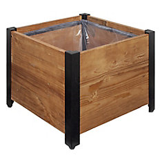 Square Urban Garden Recycled Wood Planter Box