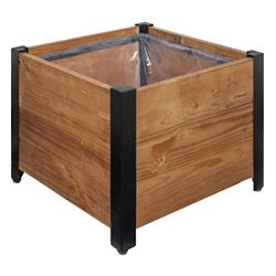 Grapevine Square Urban Garden Recycled Wood Planter Box