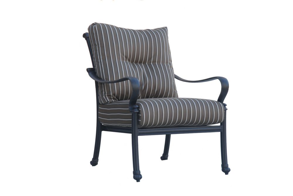 High Back Patio Furniture: OnSight Panacea High Back Patio Club Chair With Cushions