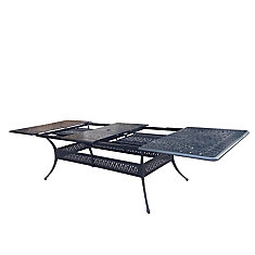 Panacea 132-inch Rectangular Patio Dining Table with Extension