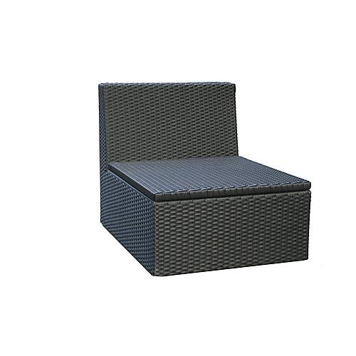 Santorini Wicker Armless Patio Chair
