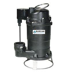 BURCAM Pompe submersible d'égout broyeuse 3/4 CV